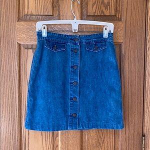 Old Navy Button up Denim Skirt